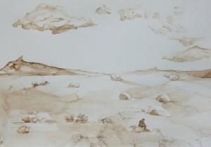 Dessin paysage Marie Sand