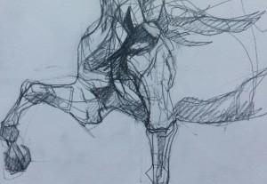 Lucky, crayon sur papier