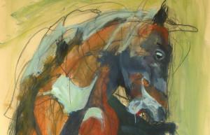peinture de cheval en colère