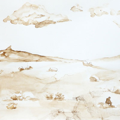 Dessin paysage Marie Sand