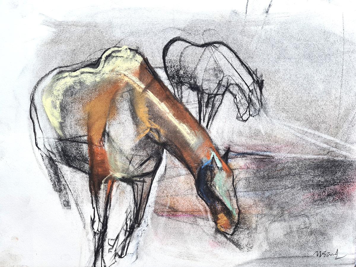 equine art art équestre dessin pastel sur papier